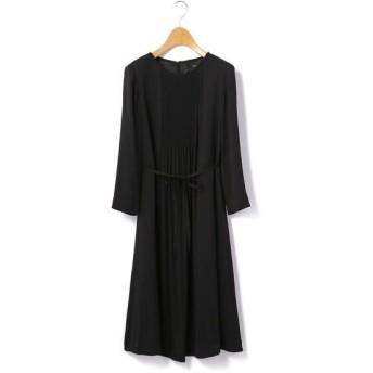 KEITH Lサイズ/キースエルサイズ サテンジョーゼット ドレス ブラック 44