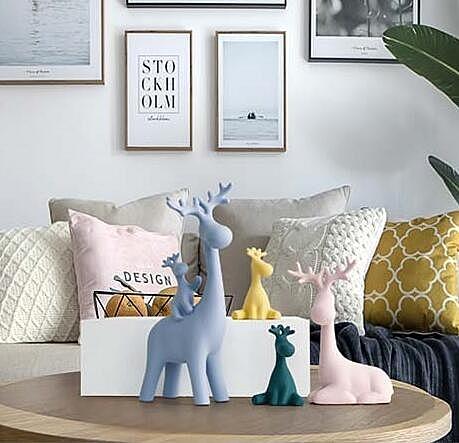 北歐麋鹿擺件家居
