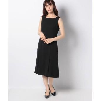 La Festa chic/ラフェスタシック ストレッチジョーゼット ドレス ブラック 11