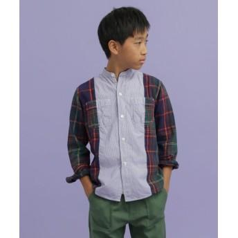 URBAN RESEARCH DOORS/アーバンリサーチ ドアーズ DENIM DUNGAREE スイスコットンロンストワークシャツ(KIDS) ネイビー 130