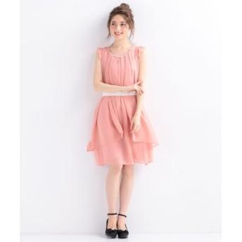 Feroux/フェルゥ 【洗える】3WAYラッフル ドレス ピンク系 2