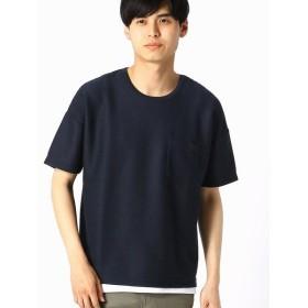 COMME CA ISM/コムサイズム 【セットアイテム】 Tシャツ×タンクトップセット ネイビー L