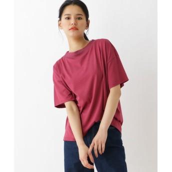 OZOC/オゾック ◆接触冷感半袖Tシャツ ボルドー(064) 38(M)