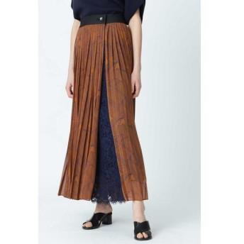 ADORE/アドーア レイヤードプリントスカート ブルー 38
