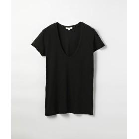TOMORROWLAND/トゥモローランド ベーシック UネックTシャツ WMJ3449 ブラック 0(S)