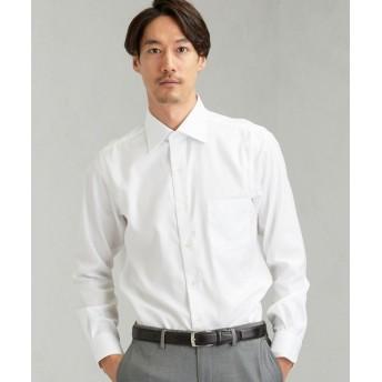 green label relaxing/グリーンレーベル リラクシング EASY IRON ロイヤルツイル ワイドカラー ドレスシャツ<機能性 / イージーアイロン> WHITE 40cm
