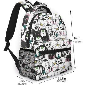 バックパック かわいい動物 Pcリュック ビジネスリュック バッグ 防水バックパック 多機能 通学 出張 旅行用デイパック