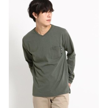 BASE STATION/ベースステーション 長袖 Tシャツ Vネック WEB限定 チャコールグレー(014) 04(LL)