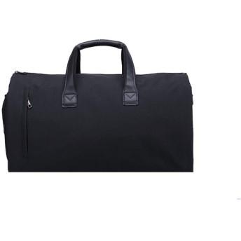 トートバッグ ビジネス 多機能トラベルバッグ服収納袋ハンドバッグ大容量折りたたみバッグフィットネスバッグ おしゃれ 日常 (Color : Black, Size : 21in)