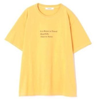 ROSE BUD/ローズ バッド カラーロゴTシャツ イエロー -