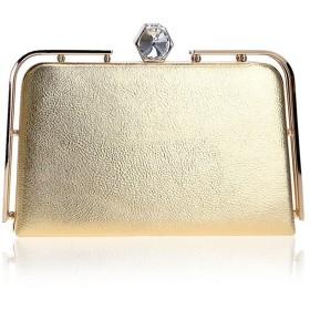 ZGQA-GQA イブニングハンドバッグ 女性 クラッチ イブニングバッグ クラッチ 財布バッグ 記念日 (色 : ゴールド)