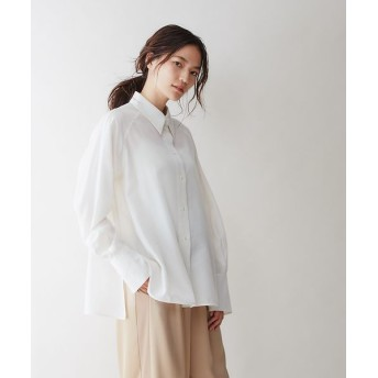 qualite/カリテ テンセルナイロンシアーシャツ オフホワイト 38