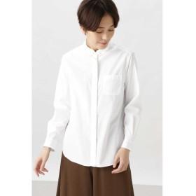 HUMAN WOMAN/ヒューマンウーマン ◆ブロードタイプライターストライプシャツ シロ M