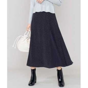 組曲/クミキョク 【Oggi1月号掲載】ipekerフラワープリント スカート ネイビー系3 1
