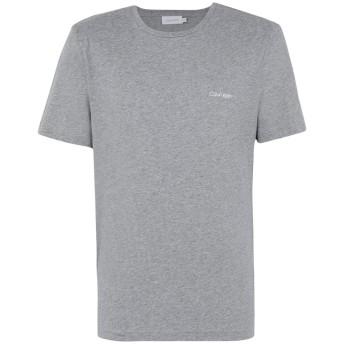 《セール開催中》CALVIN KLEIN メンズ T シャツ グレー L コットン 100% COTTON CHEST LOGO T-SHIRT