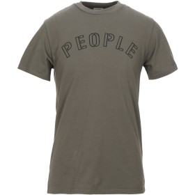 《セール開催中》(+) PEOPLE メンズ T シャツ ミリタリーグリーン M コットン 100%