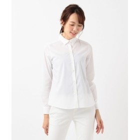 組曲/クミキョク 【リクルート対応/洗える】ストレッチシャーティング シャツ ホワイト系 3