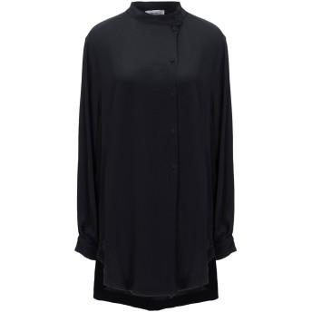 《セール開催中》MAURO GRIFONI レディース シャツ ブラック 42 アセテート 69% / シルク 31%