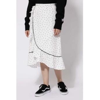 ROSE BUD/ローズ バッド ラッフルフリルラップスカート ホワイト1 -