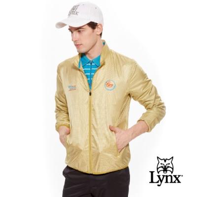 【Lynx Golf】男款日本進口布料防潑水長袖外套-黃色