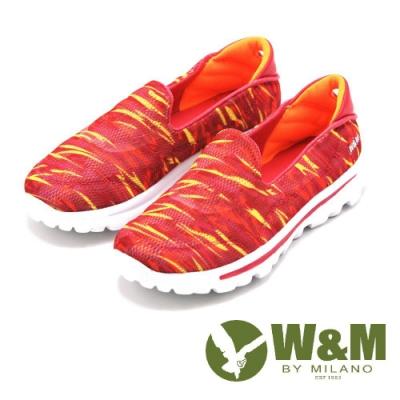 W&M MODARE系列 迷彩直套式休閒鞋 女鞋 橘 17122-1303-85