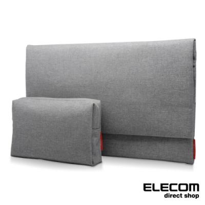 ELECOM 簡約型內袋/收納包(2入)-鈦灰