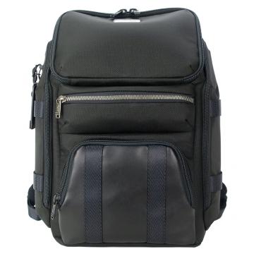 TUMI ALPHA BRAVO 尼龍拼接前口袋後背包 適用15吋筆電 黑