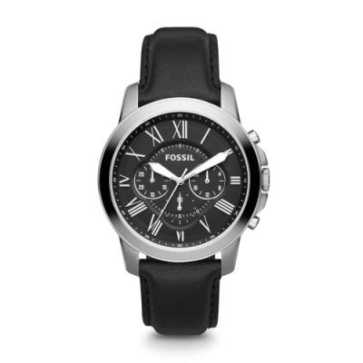 FOSSIL 經典質感三眼皮帶腕錶 FS4812IE