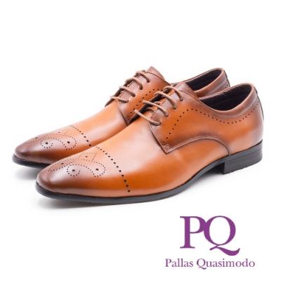 PQ 真皮 雕花繫帶德比鞋 男鞋 棕 19311-0804-79