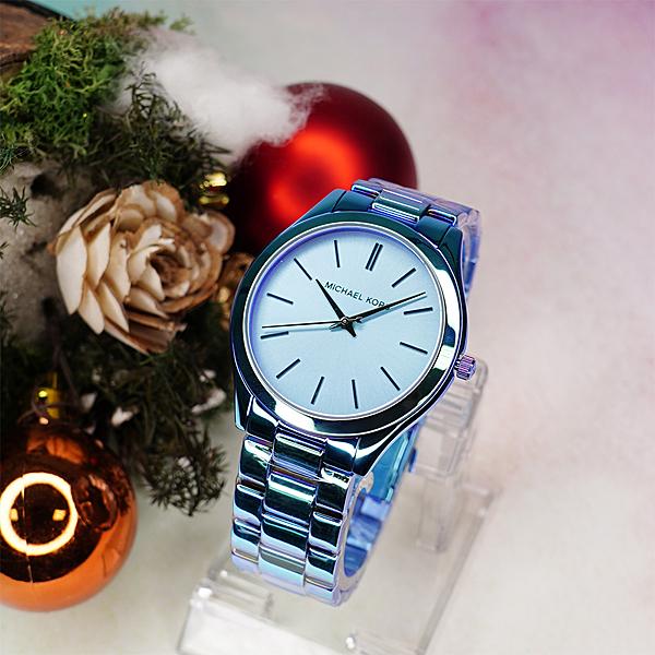 Michael Kors 光耀都會腕錶-藍/42mm MK4390