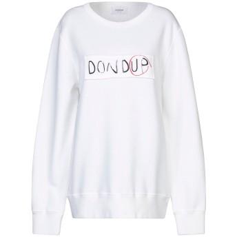 《セール開催中》DONDUP レディース スウェットシャツ ホワイト XL コットン 100%