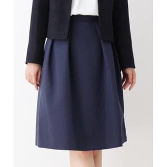 【SOUP:スカート】【入卒・大きいサイズあり・13号・15号】普段使いしやすいツヤ感Aラインスカート