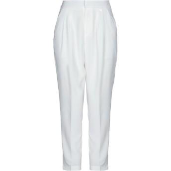 《セール開催中》MANGANO レディース パンツ ホワイト S ポリエステル 95% / ポリウレタン 5%