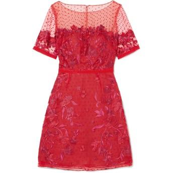 《セール開催中》MARCHESA NOTTE レディース ミニワンピース&ドレス レッド 6 ナイロン 100%