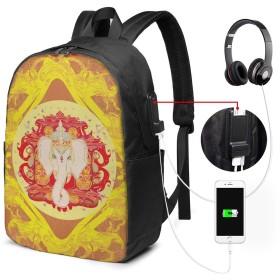 バックパック USB ポート搭載 17インチPC対応 インド人17 大容量ビジネスリュック 通勤 通学 出張 旅行 メンズ レディース