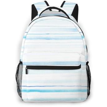 リュック 縞模様の水, バックパック リュックサック ビジネスリュック メンズ レディース カジュアル 男女兼用 軽量 通勤 通学 旅行 鞄 バッグ カバン