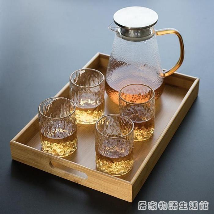 竹制托盤長方形家用簡約 茶具茶杯茶盤水杯杯子杯盤日式收納