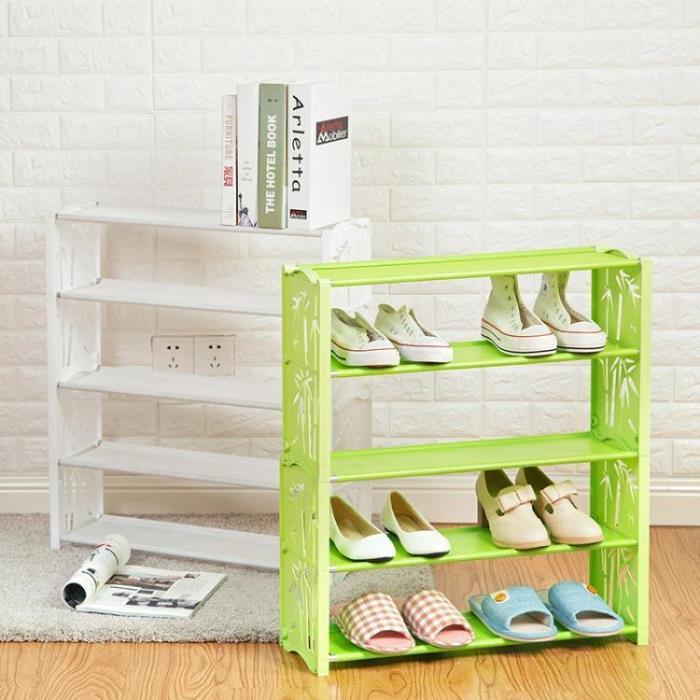 塑料多層鞋架簡易組合收納鞋櫃子經濟型簡約組裝鞋子收納架