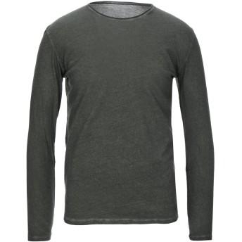 《セール開催中》MAJESTIC FILATURES メンズ T シャツ ミリタリーグリーン M コットン 85% / カシミヤ 15%