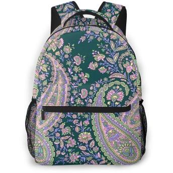 リュック 花インドのペルシャ, バックパック リュックサック ビジネスリュック メンズ レディース カジュアル 男女兼用 軽量 通勤 通学 旅行 鞄 バッグ カバン