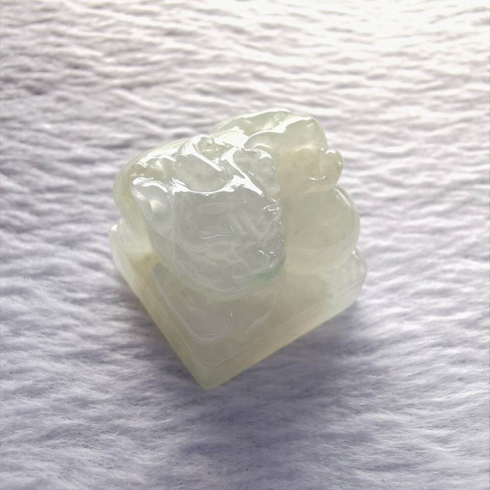 天作之合 超值商品冰種翡翠印章.小擺件貔貅 a貨