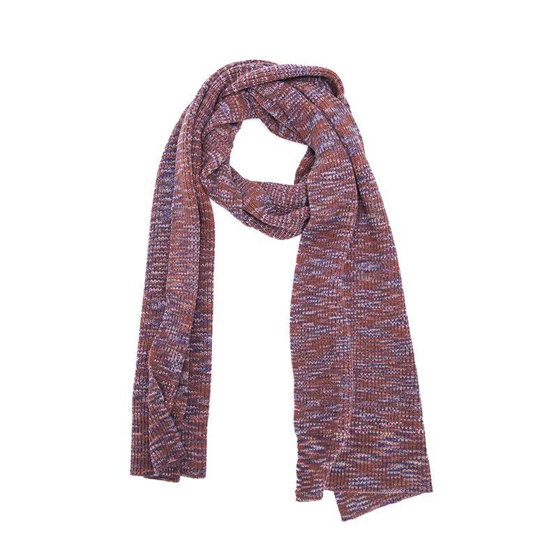 藏式條紋圍巾(3色可選) 深紫