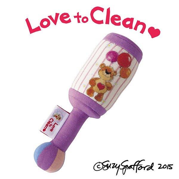 【台灣總代理】日本 People -Suzy's Zoo布玩具系列-手搖鈴(梨花熊/咬舔玩具/安撫玩具)