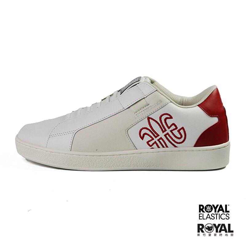 Royal Adelaide 白色 皮質 套入 運動休閒鞋 男款 NO.B1026【新竹皇家 02694-001】