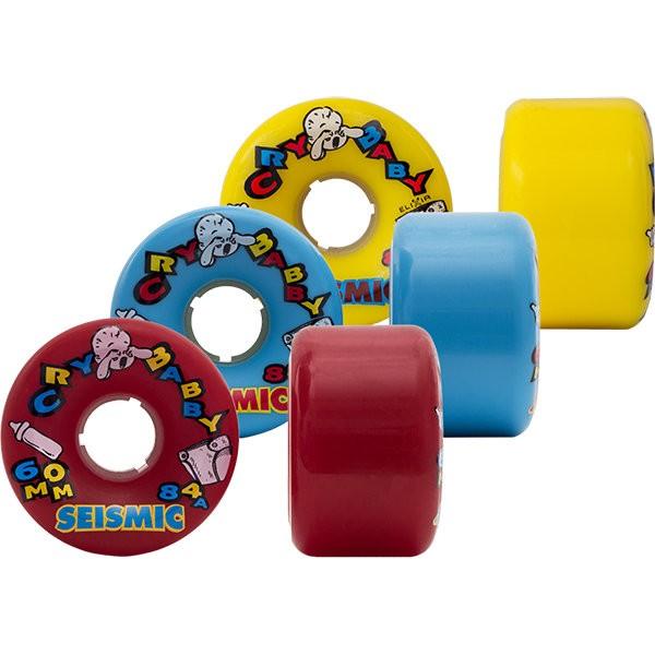 【SEISMIC】 Longboard (滑板長板/ 交通板) 專用輪子(Cry Baby 60mm 80a~88a)