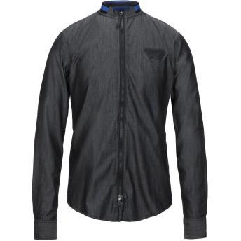 《セール開催中》ARMANI JEANS メンズ デニムシャツ ブラック XS コットン 100%