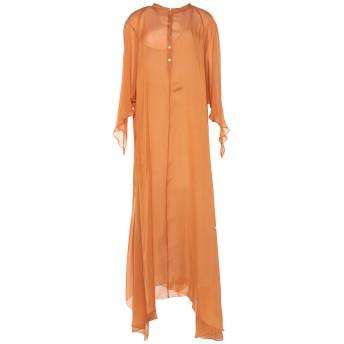 《セール開催中》FORTE_FORTE レディース ロングワンピース&ドレス オレンジ 0 シルク 100%