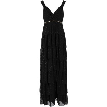 《セール開催中》TRAFFIC PEOPLE レディース ロングワンピース&ドレス ブラック S ポリエステル 95% / 金属繊維 5%