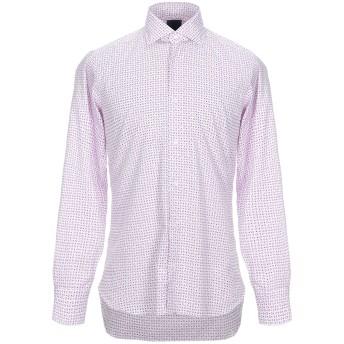 《セール開催中》DANDYLIFE by BARBA メンズ シャツ ライトパープル 39 コットン 100%