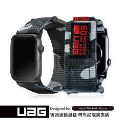 UAG Apple Watch 42/44mm 時尚錶帶-迷彩黑